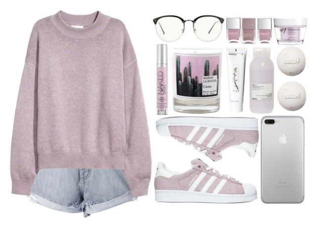 """Diamond Girl"" by antisocial-vagabond ❤ liked on Polyvore featuring Nobody Denim, adidas, Urban Decay, Maison La Bougie, Davines, Korres, Linda Farrow, Nails Inc. and Boots No7"