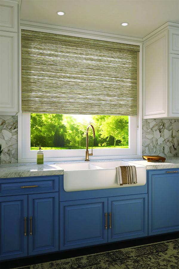 Levolor Fabric Roller Shades Kitchen Window Treatments Kitchen Window Coverings Kitchen Design
