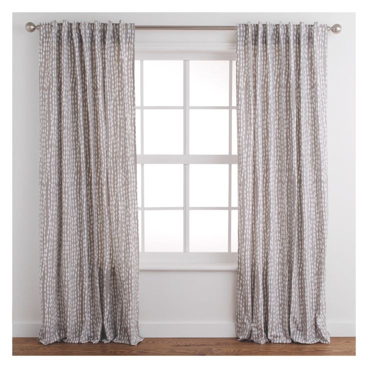 TRENE Pair of grey patterned curtains 145 x 170cm