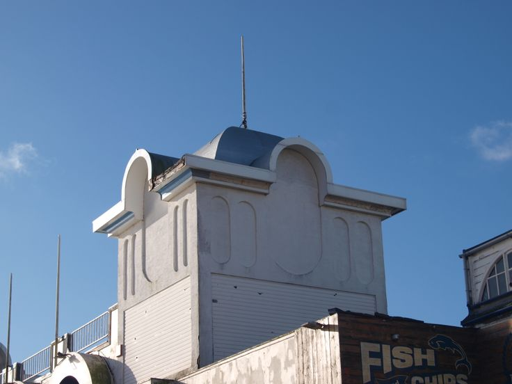 Close up of a turret on South Parade Pier, Portsmouth.