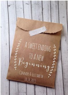 Wedding Favor bags for your guests                                                                                                                                                     More