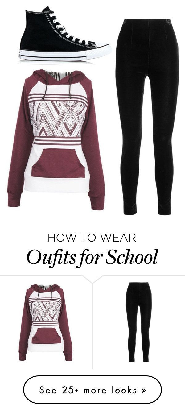 """School"" by mabs101 on Polyvore featuring Balmain and Converse"