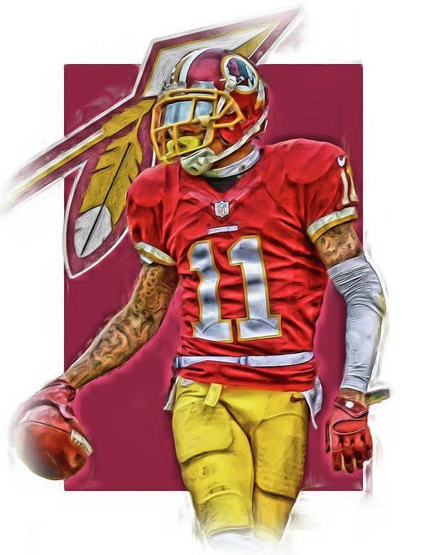 Desean Jackson Print featuring the mixed media Desean Jackson Washington Redskins Oil Art by Joe Hamilton