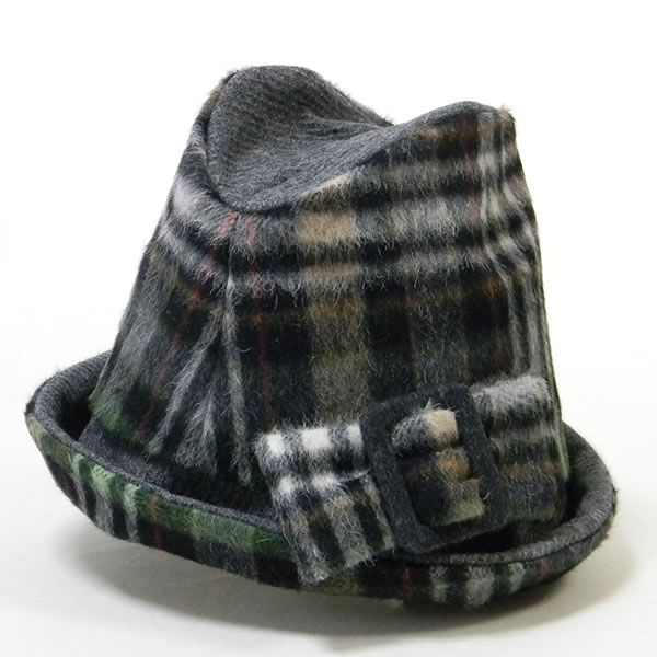 チェックソフトハット-グリーン  #ピーチブルーム帽子店 #Hat #帽子