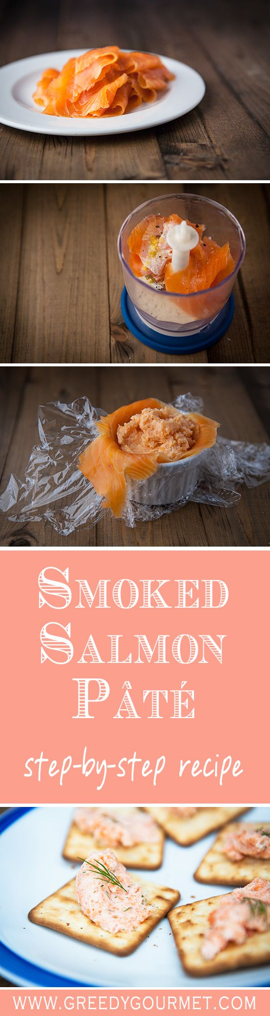 Smoked Salmon Pâté is a sophisticated starter that is super easy to make - under 5 minutes flat!
