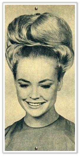 1960s bouffant hair updo
