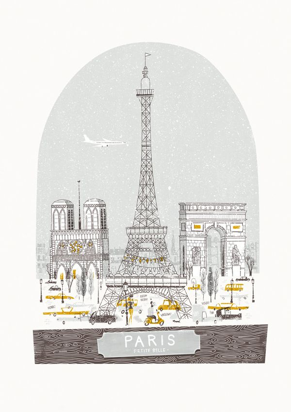Beautiful illustration makes me wish I was in Paris now. Petit Belle by Johnny Kotze, via Behance
