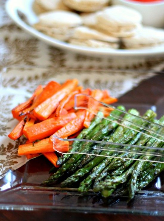 Roasted Carrots & Asparagus are great for an Easter menu.Easter Menu, Thyme Roasted, Memories Club, Menu Recipe, Bridal Shower, Roasted Vegetables, Club Luncheon, Quick Roasted, Full Menu