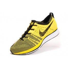Nike Flyknit Trainer+ Unisex Gul Svart   Nike billige sko   kjøp Nike sko  på nett