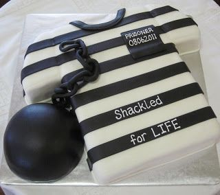 Ball and Chain Groom's Cake or make a female version by adding breasts and taper waistline