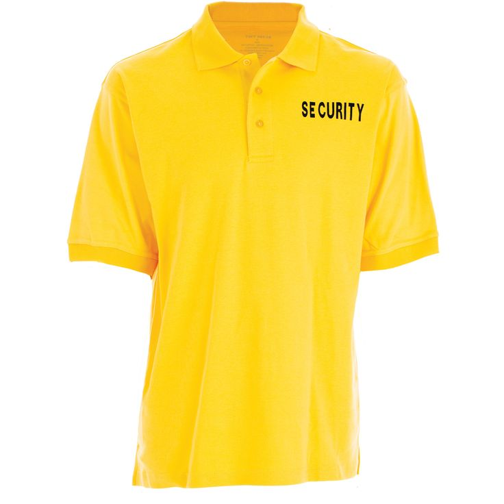 Security Uniform Polo Shirts | Gold