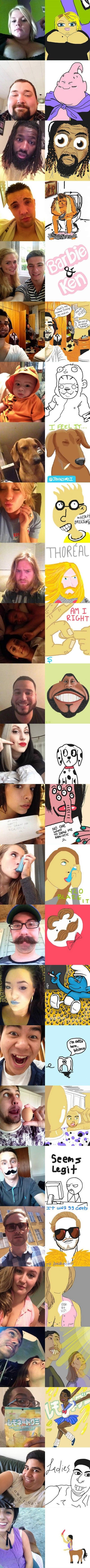 A New Facbook Game: People post selfies, other people draw them.