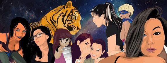 Ritratto Personalizzato Ritratto Digitale Arte di GiArtShop