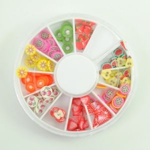 $0.80    Trendy Elegant Clay Polymer Fruit Designed Slice Nail Art Decoration