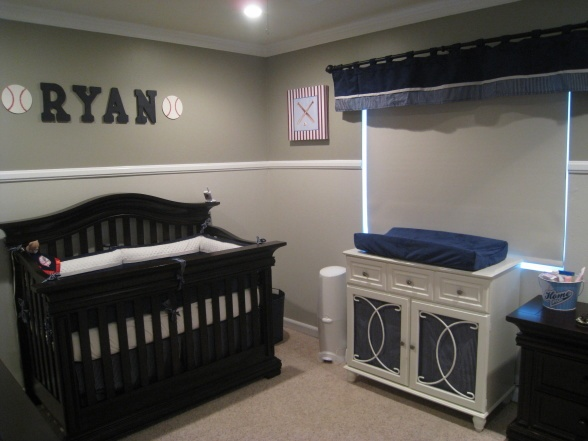 New York Yankee Theme Blue Grey And White Baby