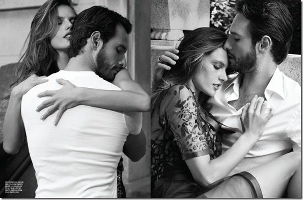 Alessandra Ambrósio e Rodrigo Santoro para Vogue, por Eric Guillemain - cliques no Central Park