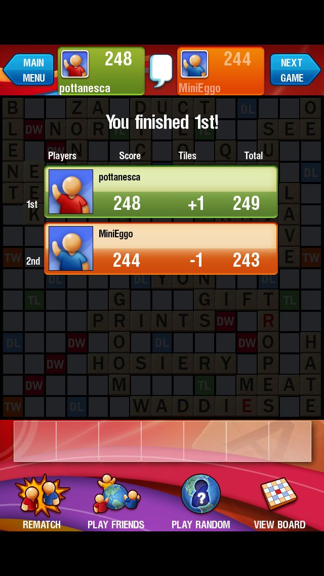 Game: Scrabble