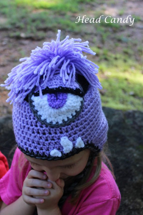 Purple crocheted  Despicable Me Minion inspired hat by headcandy1, $24.00