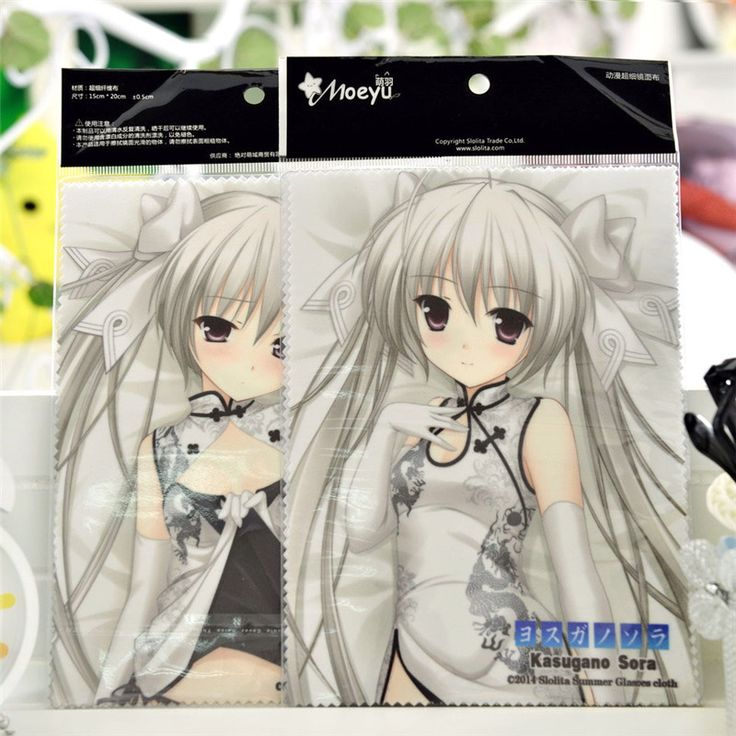 3Types Select Yosuga No Sora 2PCS Microfiber Glasses Lens Cloth Cute Anime Eyeglasses Phone Laptop Screen Cleaner Cleaning Cloth