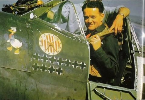 This is the famous ace Jan Zumbach who saved Great Britian from the German Luftwaffe in the Battle of Britain in the Polish RAF 303 Squadron. Here is his famous insignia and Polish Squadron insignia.