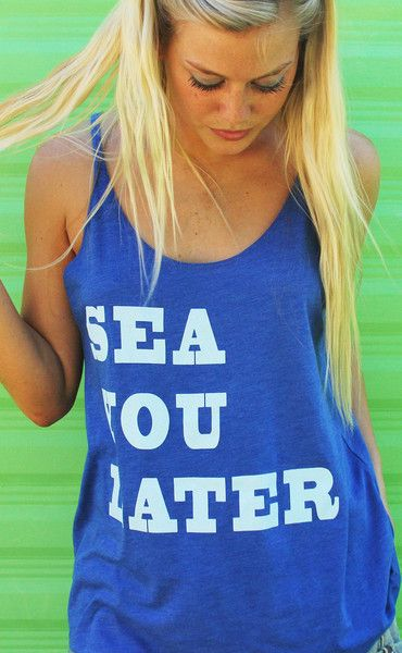 Gone away to the beach? Sea you later!!!! (you need this tank!!!!)