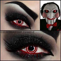 Jigsaw costume makeup