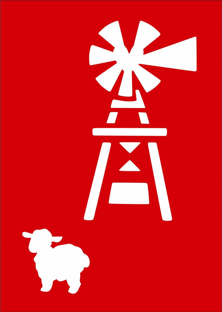 CODE: AW004, NAME: Windpump with sheep. SIZE: A4 & A5. Available from RD Designs. Contact: renchea@rddesigns.co.za.