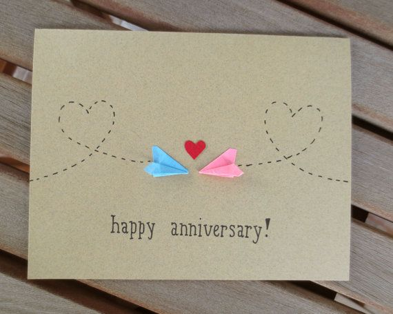 anniversary card long distance anniversary card by FubiniCrafts
