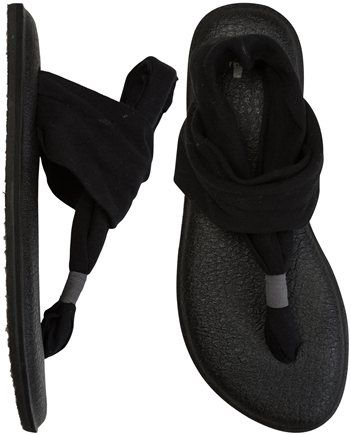 These sandals are made from the sanuk yoga mat material which I LOVE, and I like the look of the soft straps, which also look very very comfortable.