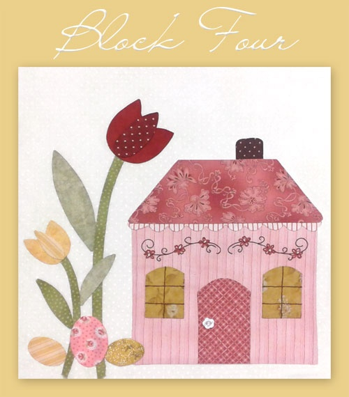 Great free patterns for shabby cottages blocks - one each month