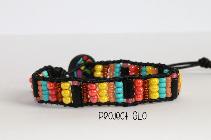 Leather Wrap Bracelet Rainbow di Project GLO su DaWanda.com