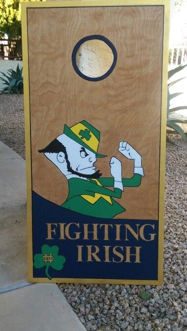 This Is A Cornhole Board I Made For My Dad, Who Is A Huge Notre Dame  Footballu2026