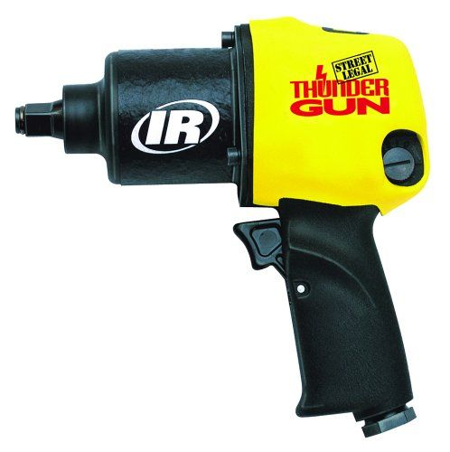 The Ingersoll Rand Thunder Gun puts pit-crew speed and power in the palm of your hand. Looks and sounds just like the original tool used by most NASCAR pit crews. It's the fastest 1/2 inch Impactool available.