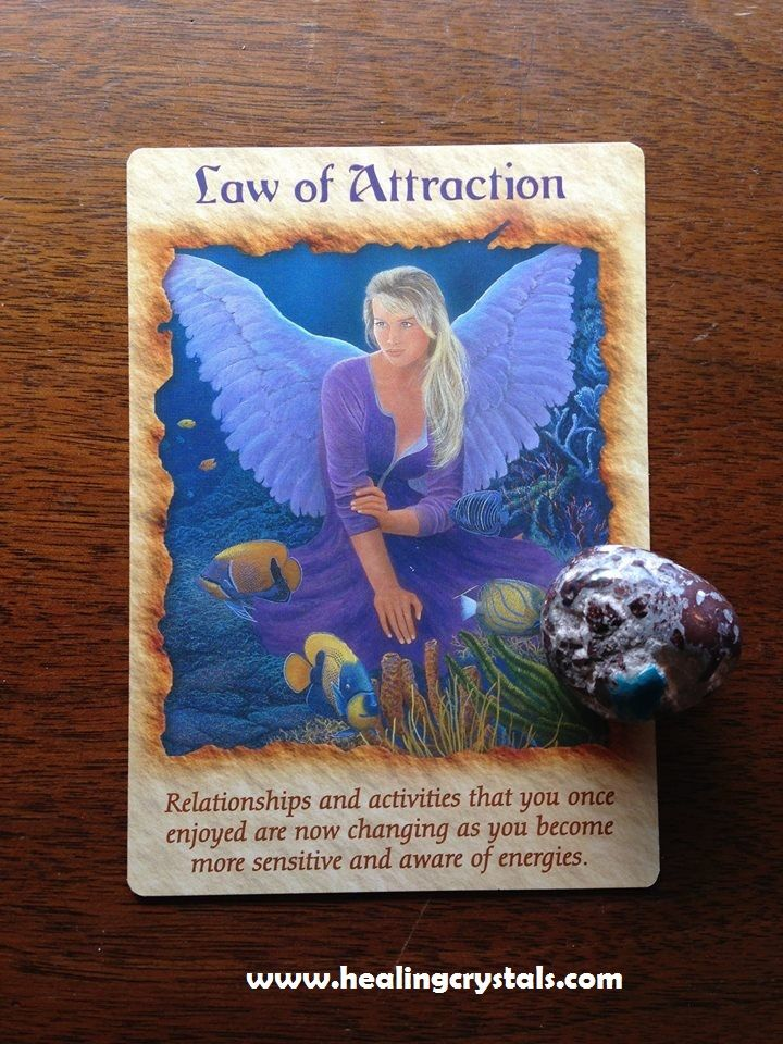 5 22 15 Todays Card Is The Law Of Attraction Card From