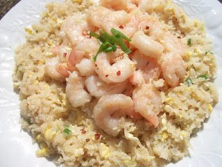 """Shrimp or Chicken Fried """"Rice"""" - 2 Complete Lean and Green Meals, 3 Condiments and all healthy fats per serving"""