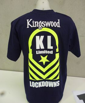 Another t shirt screen print example-this time in safety green WWW.ColourWorksnz.Com keep on printing the good stuff!