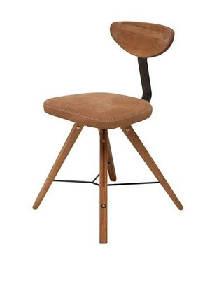 45% OFF Industrial Chic Theo Chair, Fumed Oak