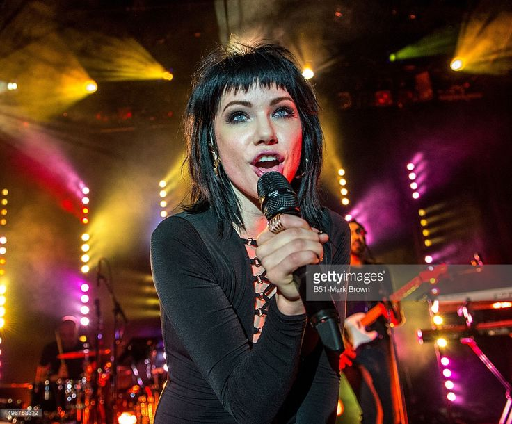 Carly Rae Jepsen performs during her 'Gimmie Love' tour at Irving Plaza on November 11, 2015 in New York City.