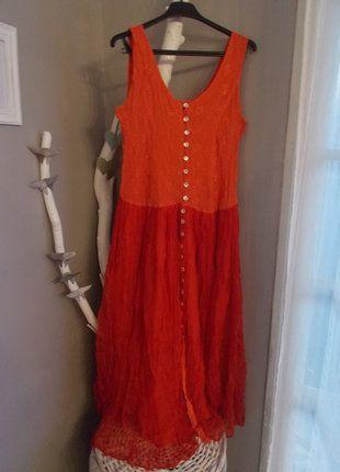 À vendre sur #vintedfrance ! http://www.vinted.fr/mode-femmes/robes-longues/31347627-longue-robe-rougeorange
