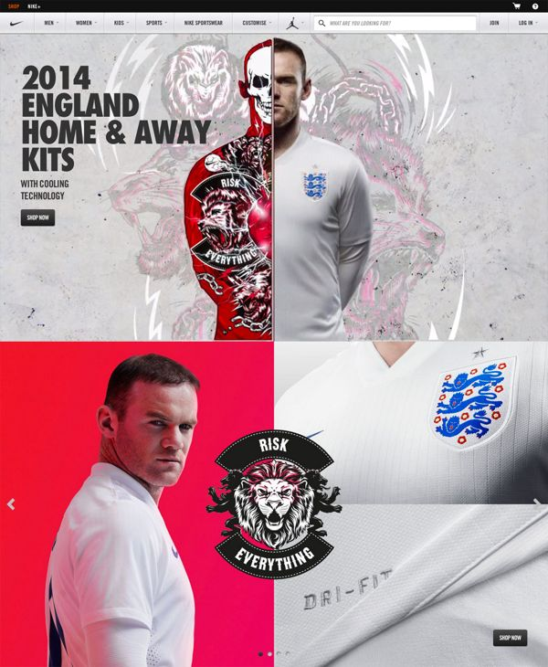 Nike Football: England Kit Launch Southbank by ILOVEDUST, via Behance