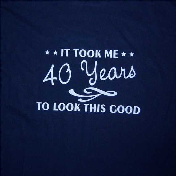 40th birthday shirt great custom gift 2X by OodlesDecals on Etsy, $16.00