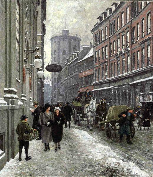 "Paul Gustave Fischer (Danish, 1860 - 1934) ""Købmagergade"""