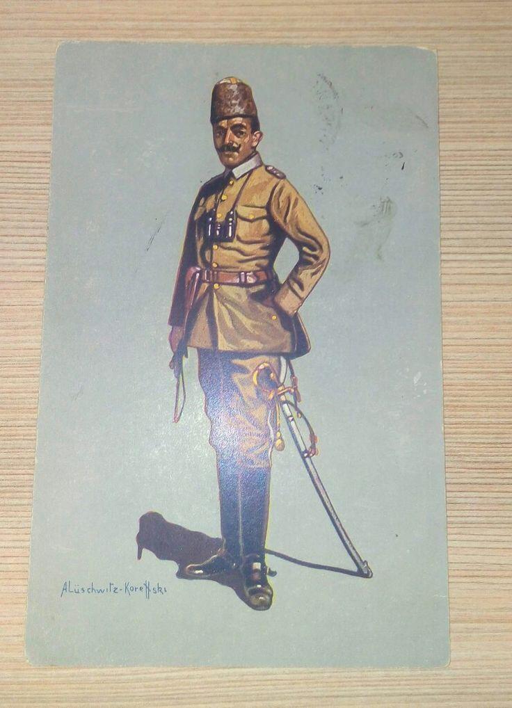 1916 Alman Baskısı Enver Paşa kartpostalı