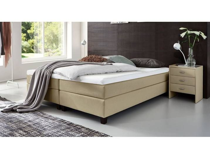 Boxspringbett Ohne Kopfteil 200x200 Cm Sandfarben H2 Luciano Bed Without Headboard Kids Bed Canopy Diy Living Room Decor
