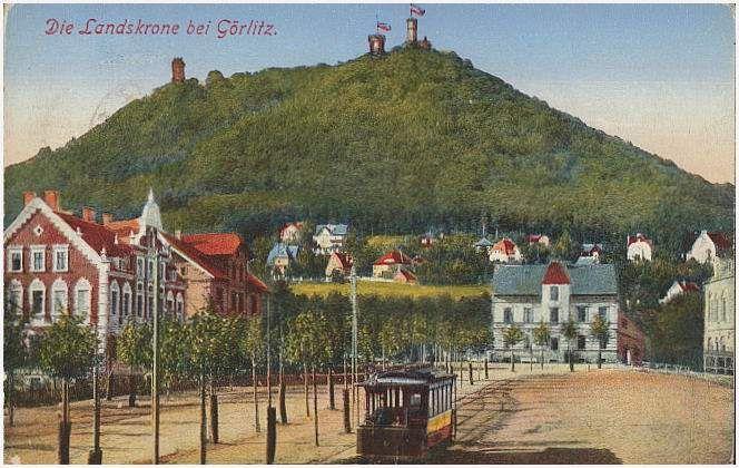 Pocztówka Zgorzelec Die Landskrone Bei Gorlitz
