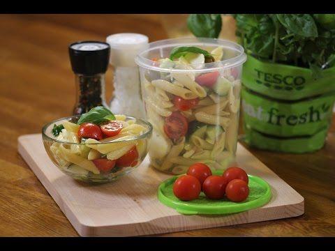 Studený těstovinový salát se zeleninou, mozzarellou a bazalkou - čerstvá inspirace na tescorecepty.cz