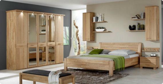 Drehtürenschrank Florenz - Erle teilmassiv - 200 cm (4-türig) - 2 - komplett schlafzimmer mit matratze und lattenrost