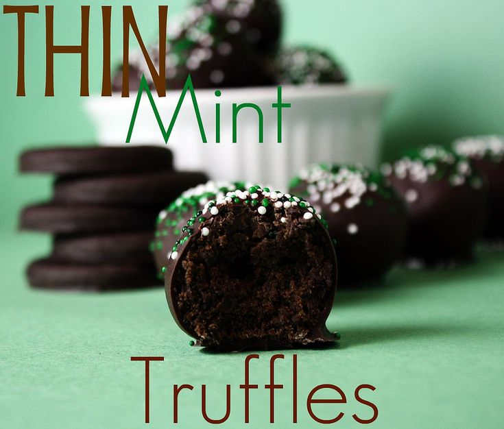 Thin Mint Truffles - Confessions of a Cookbook Queen
