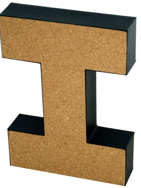 i decorative cork board letter available in a pack of