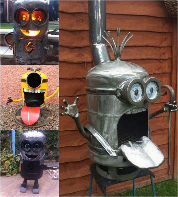 How to make a minion firepit diy diy crafts do it yourself ...